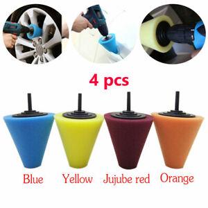 Wheel Hub Polish Buffing Shank Polishing Sponge Cone Metal Foam Pad Car Supply