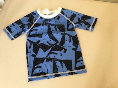 NWT Gymboree Boys Rash Guard Shark Swim trunk Shorts Swimsuit Set UPF 50+
