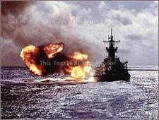 Photo: USS Missouri (BB-63) Iowa Class Battleship Fires 16in Guns