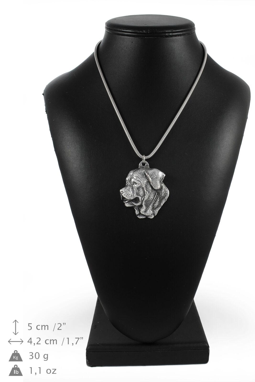 Tosa Inu  argentoo plaqué collier sur une cordon en argentoo Art Dog FR