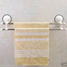 Quality Suction Double Rail Towel Rack Bar Shelf Stainless Steel Bathroom Rail