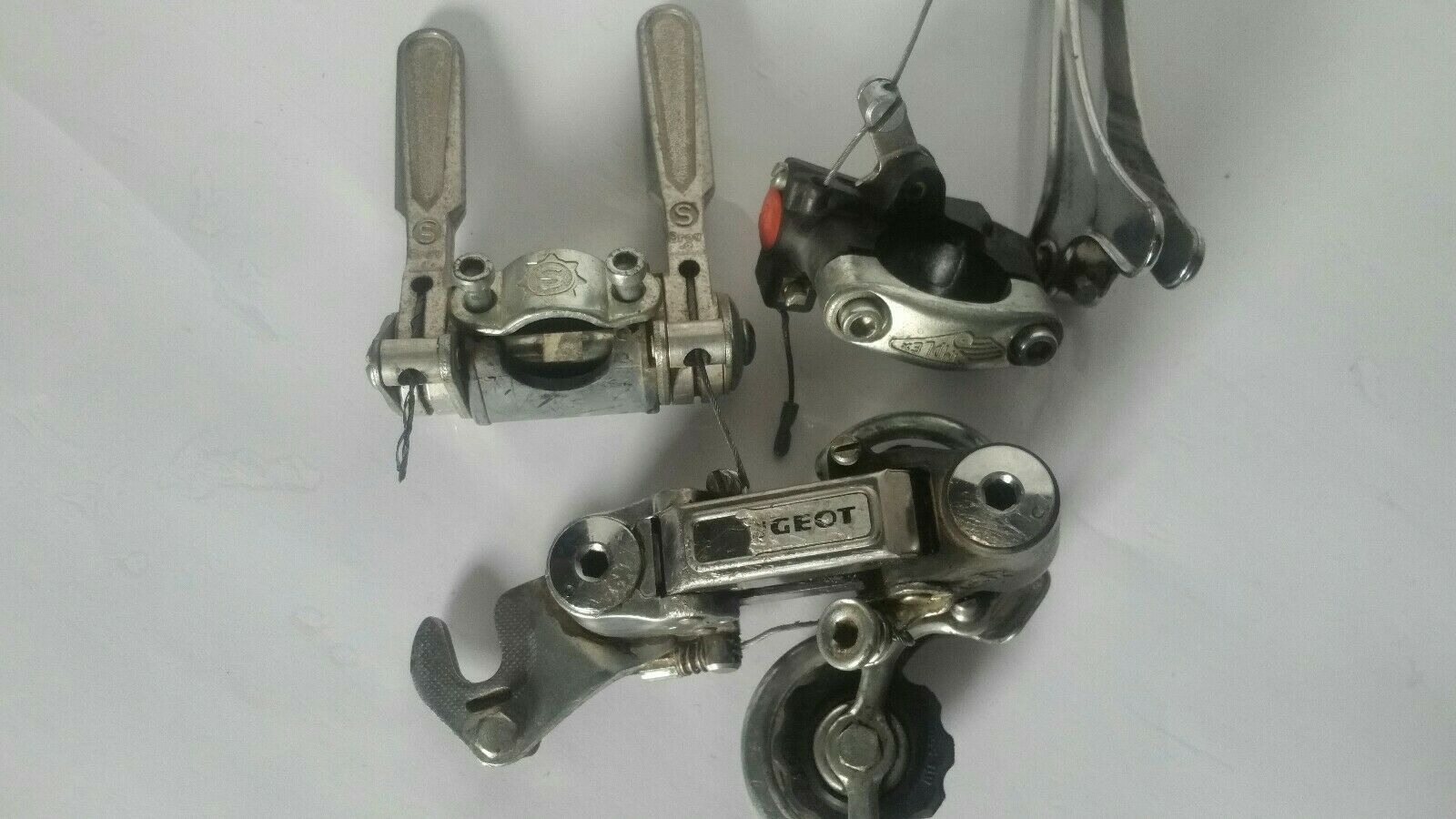 RARE PEUGEOT Simplex SX 410 Front and  Rear Derailleur Set, Thumb Levers  free shipping