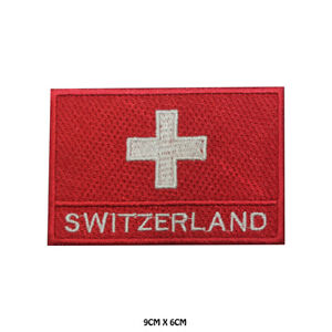 Switzerland-National-Flag-Embroidered-Patch-Iron-on-Sew-On-Badge