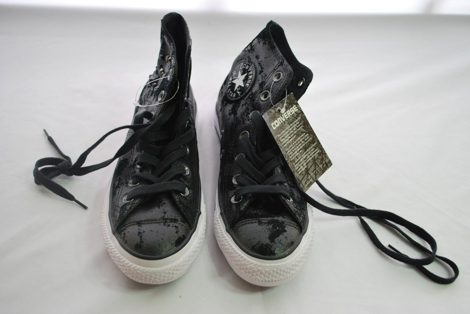 Converse Chuck Taylor All Star Black Distressed Sneakers Women's Sz 6.5 NWT