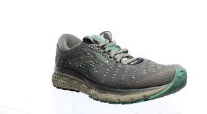 Brooks Womens Glycerin 17 Grey/Aqua/Ebony Running Shoes Size 8.5 (Wide)