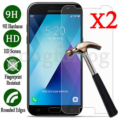 2X 9H+ Tempered Glass Screen Protector For Samsung Galaxy A3 A5 A7 2016 / 2017