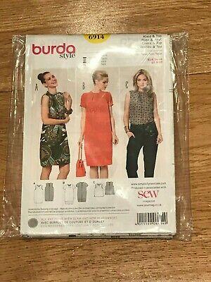 **NEW** Size U.S Burda Sewing Pattern No 6914 8-20