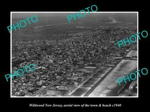 OLD-LARGE-HISTORIC-PHOTO-OF-WILDWOOD-NEW-JERSEY-AERIAL-VIEW-OF-TOWN-c1940-2