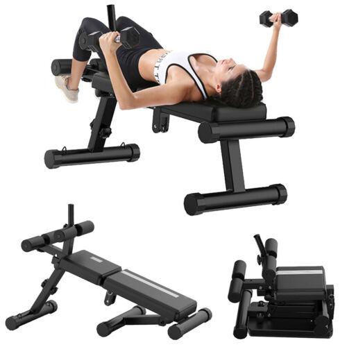 Adjustable Slant Board Folding Design Sit-ups Board Dumbbell bench For Exercises