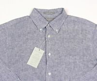 Men's Daniel Cremieux Deep Blue Linen Shirt Xl Extra Large $95+