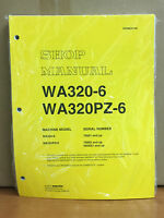 Komatsu Wa320-6, Wa320pz-6 Wheel Loader Shop Service Manual (70092, H00051 & Up)