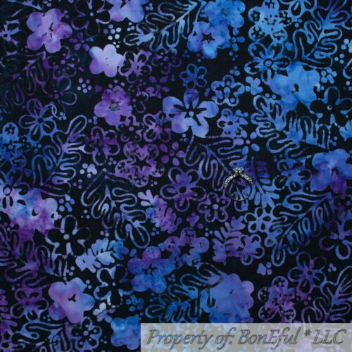 BonEful Fabric FQ Cotton Quilt Blue Aqua Water Batik Green Coral Sea*Shell Tonal