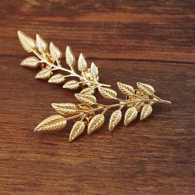 Buy 2 get 1 free leaf shirt collar pins brooch gold