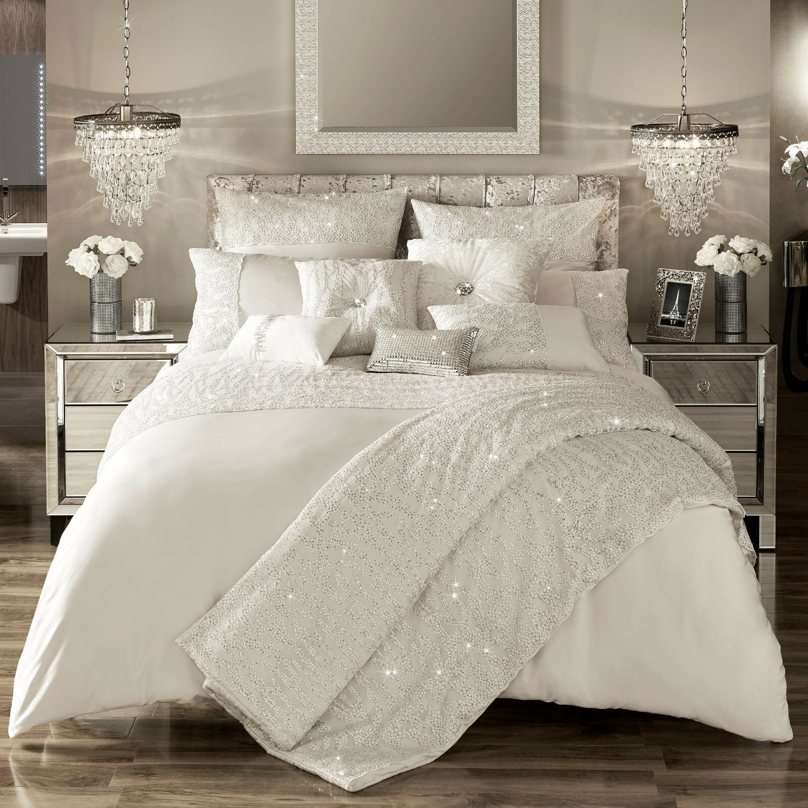 Kylie Minogue Bedding Darcey Oyster Duvet Cover Throw Cushion Sep 2017 New