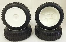NIB medium block WD Pre-Mounted 1/8 Buggy Tires Glued