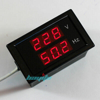 AC 80-300V Digital LED Voltmeter Voltage Volt Generated Hertz Hz Frequency Meter