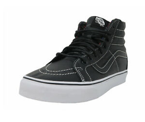 Vans-Men-Women-Shoes-SK8-Hi-Reissue-Leather-Black-Plaid