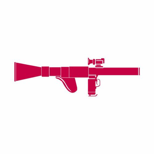 Decal Sticker Rocket Launcher Bazooka Multiple Color /& Sizes ebn1373