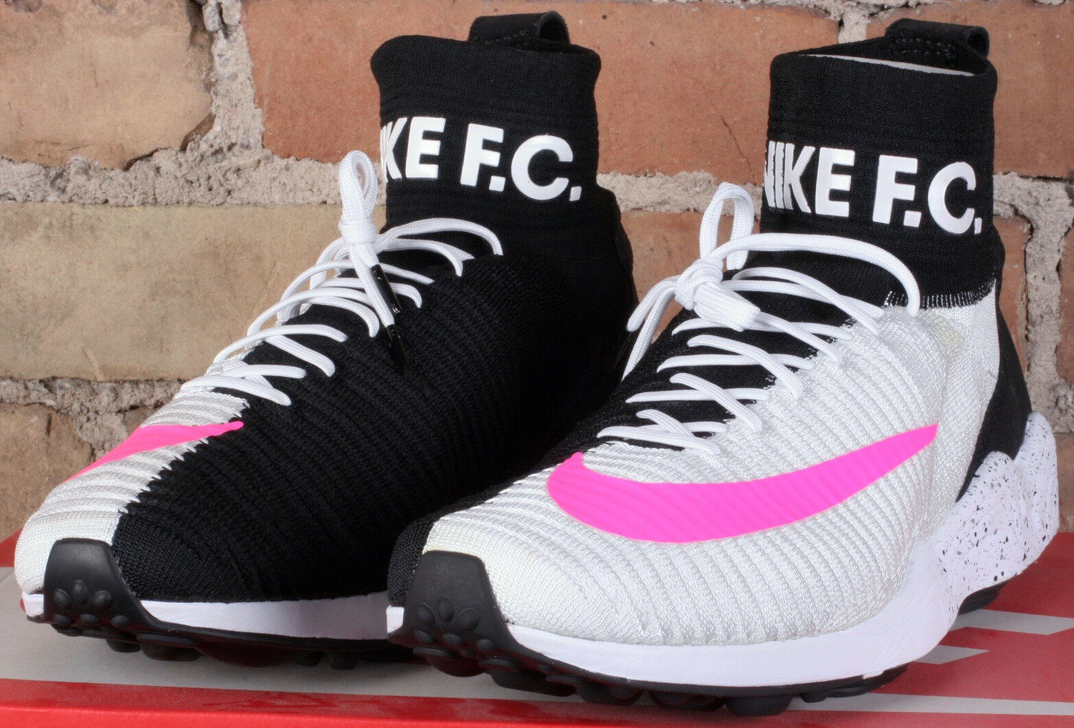 New Nike Air Zoom Mercurial XI FK FC White Black Pink shoes 852616 100 - Size 12