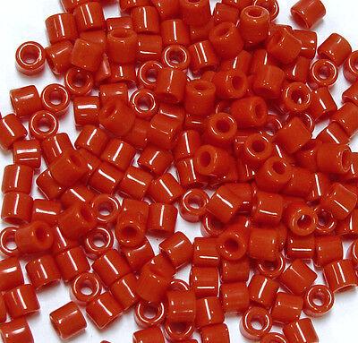 Pink Tile Beads 250 Czech Glass native jewelry beading