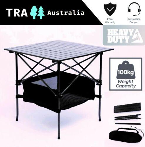 TRA 70x70cm Portable New Outdoor Camping Table Folding Picnic Rv Caravan Compact