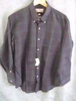 Etienne Aigner Blackwatch Plaid Dress Shirt Size 16.5 32/33