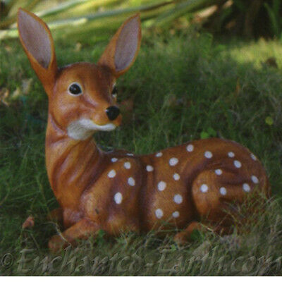 New Country Fawn / Garden Ornament / Bambi /  Garden Deer / Light weight Resin