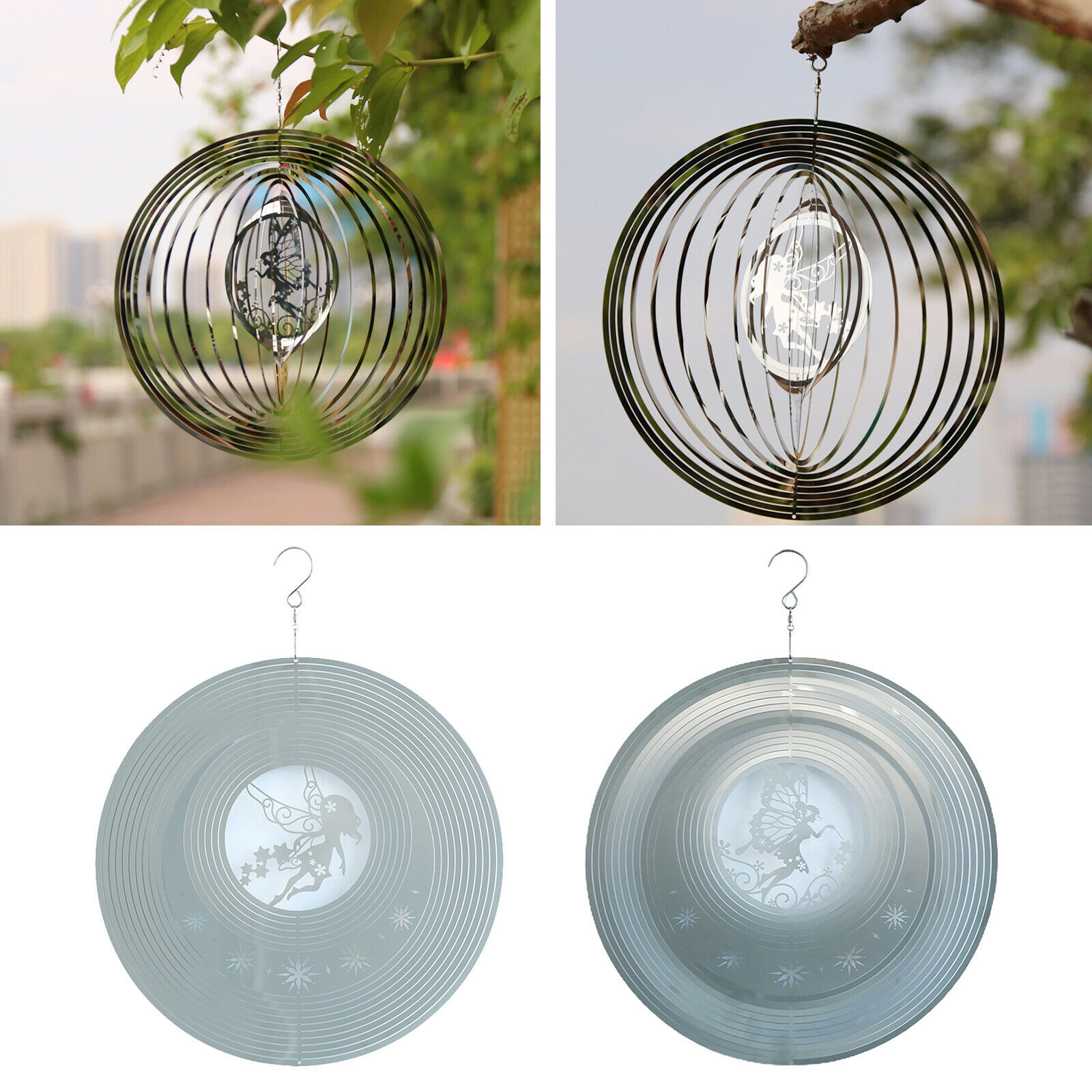 Rotating Wind Chimes Spinner Indoor Patio Porch Pendant Home Ornament
