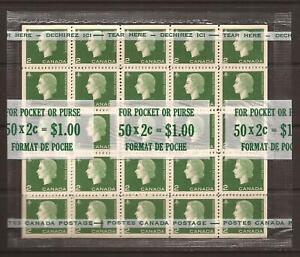 Canada #402ai MNH M/S CV$25.00 1963 Cameo QEII Cello Paq