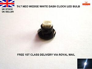 Blanc-T4-7-led-smd-pour-vw-golf-MK4-99-2004-dash-horloges-lumieres-ampoules-interior-12V
