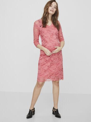 BNWT MAMALICIOUS Maternité Robe dentelle Occasion Spéciale Fête £ 48 RRP Rose