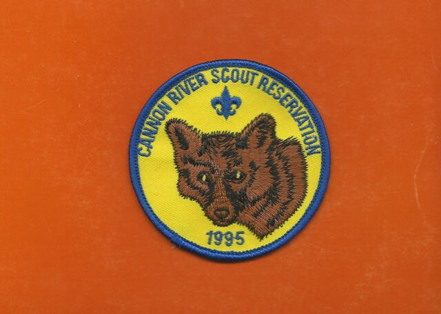 SCOUT BSA CAMP CANNON RIVER RESERVATION 1995 WOLF INDIANHEAD COUNCIL MN PATCH !!