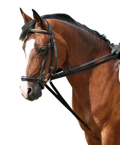 GURT SCHLAUFZÜGEL BESTE GURTQUALITÄT SCHWARZ WB und Pony schnelle Lieferung NEU