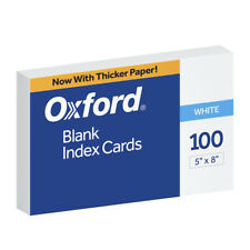Oxford Unruled Index Cards 5 X 8 Inches White Pack Of 100