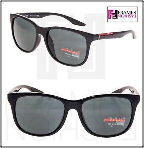 2e14e1366c PRADA LINEA ROSSA Sport Light Sunglasses PS03OFS 1AB-3O1 Shiny Black ...