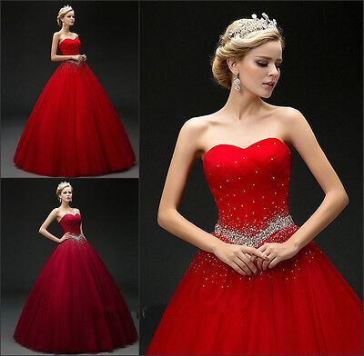 Princess Quinceanera Dresses Beaded Sweet 15 16 Prom Formal Evening Wedding Gown