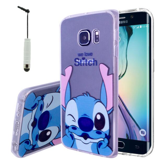 537e27fed0a Carcasa Funda De Silicona TPU Ultra Fina Stitch para Samsung Galaxy S6 edge