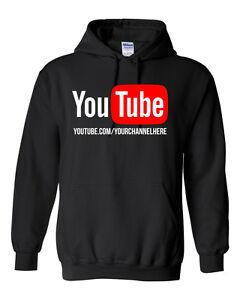 Image is loading YouTube-Channel-CUSTOM-URL-Hoodie-Sweatshirt-Sweater-YOUR- ae7657d65