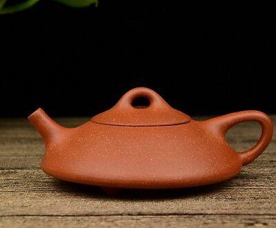 Chinese Yixing Zisha Clay Handmade Tripod Shipiao Teapot 150cc