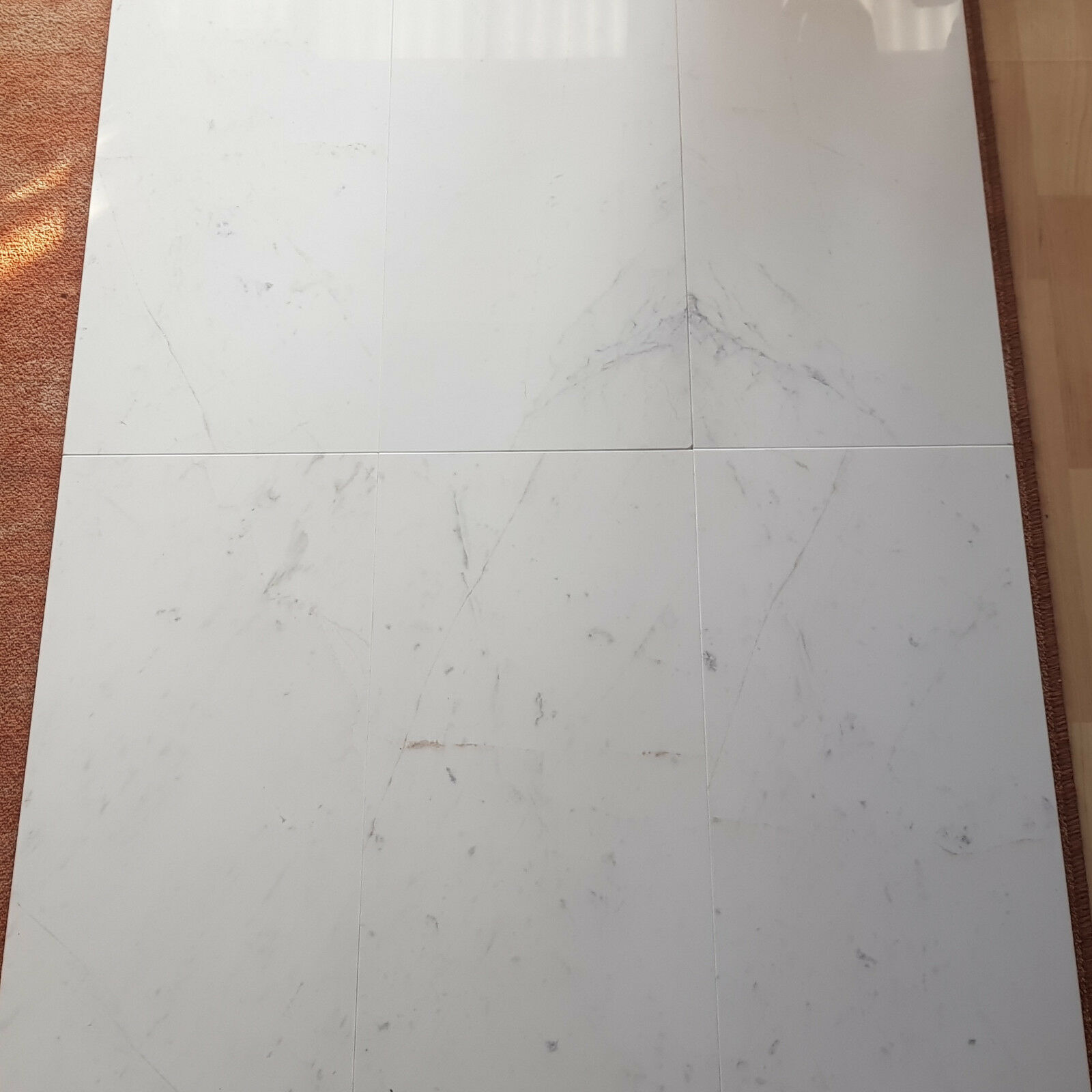 Marmor 30,5 x 61 x 1 cm - Griechenland 1.Wahl , Volakas, Estremoz, Weiss