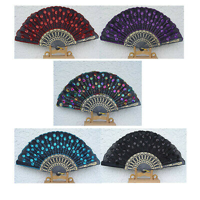 10x Fächer Taschenfächer Handfächer Nr1 10er Farbe sortiert