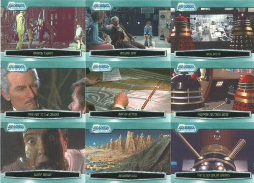 Dr Doctor Who Big Screen Base Card Set Daleks ~ New Full 100 Card Base Set