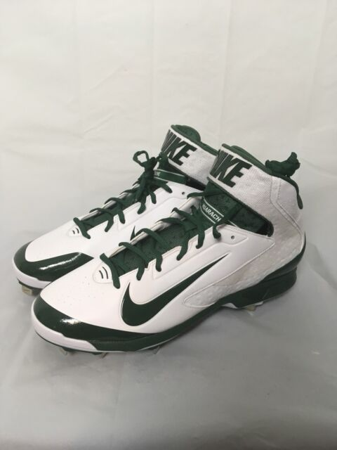 72edfcaa797f Nike Air Huarache Pro Metal Baseball Cleats Size 13.5 White   Green  599235-130
