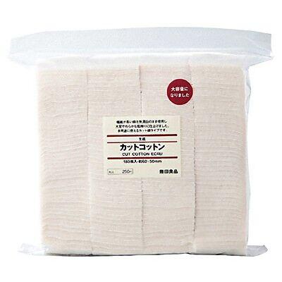 Fast Shipping Muji☆Japan-Organic Facial Cotton No bleach 180 sheets 60×50mm