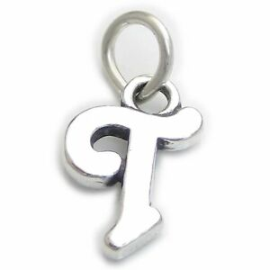 Script Letter U Initial sterling silver charm .925 x 1 Letters charms CF7202