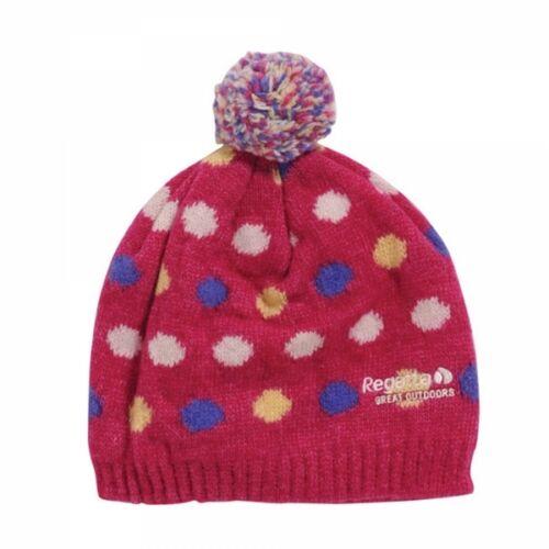 Regatta Kid/'s /'Dot2Dot/' Pink Winter and Ski Wear Beanie Hat.
