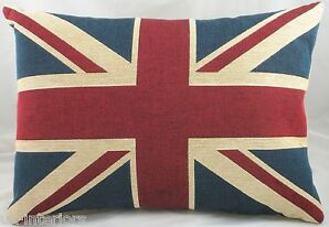 "Union Jack British United Kingdom Flag Belgian Tapestry Cushion 18"" x 13"" LB362"