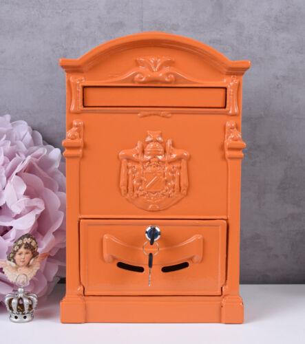 Briefkasten Aluminium Wandbriefkasten Vintage Postkasten Antik Letterbox Orange