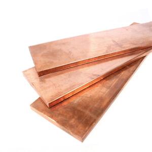 1pcs 4mm x 15mm x 100mm 99.9/% Copper T2 Cu Metal Flat Bar Copper Strip Plate