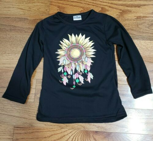 Details about  /Sunflower Dream Catcher Printed Top Size XSmall 18-24 Small 2T-3T Medium 3T-4TLC